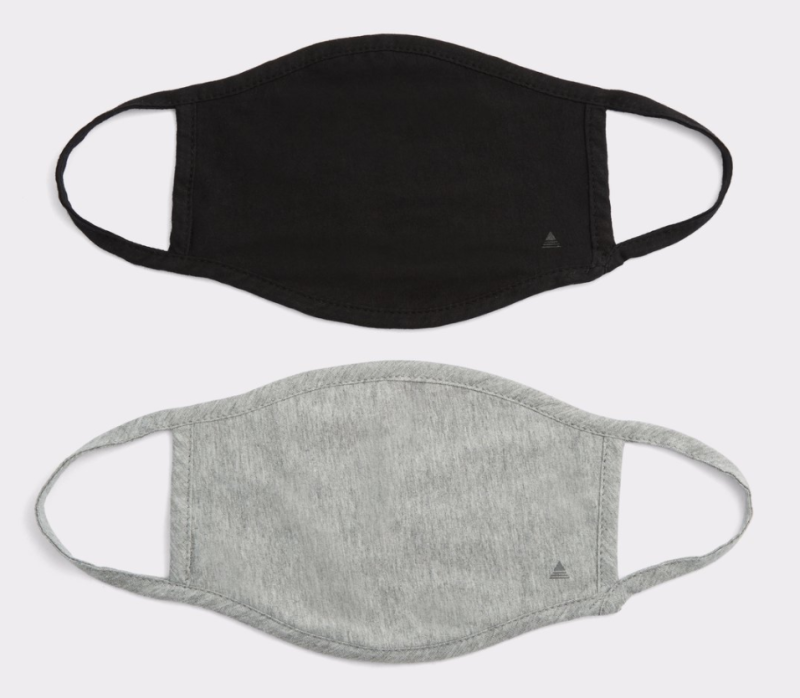 ALDO Laothien 2-Pack Face Masks in Black and Grey