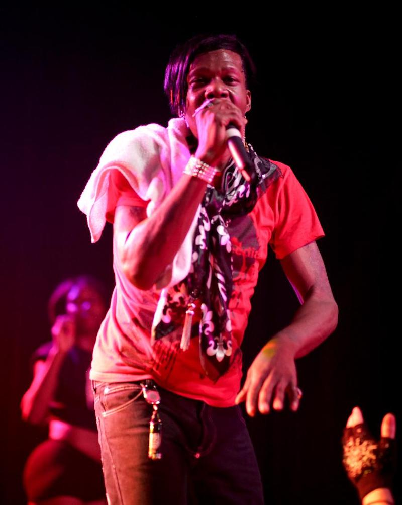 """This 2012 image released by Ballin PR shows Big Freedia, whose real name is Freddie Ross, performing at The Mezzanine in San Francisco. The openly gay performer has landed his own show on the Fuse television network. """"Big Freedia: Queen of Bounce will focus on Ross and the New Orleans music scene known as """"bounce"""" _ a fusion of hip-hop and quick, repetitive dance beats with heavy bass. Bounce music often includes call-and-response vocals, a nod to early rap and New Orleans Mardi Gras Indian roots music. Big Freedia is one of the few bounce artists with international exposure, having toured Europe, Australia and other countries as well as most of the U.S. The eight-episode series premieres Sept. 18. (AP Photo/Ballin PR, Beto Lopez )"""