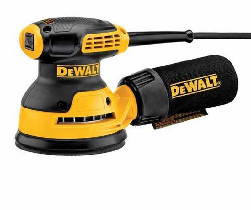 """<p><strong>DEWALT</strong></p><p>acehardware.com</p><p><strong>$59.99</strong></p><p><a href=""""https://go.redirectingat.com?id=74968X1596630&url=https%3A%2F%2Fwww.acehardware.com%2Fdepartments%2Ftools%2Fpower-tools%2Forbital-sanders%2F2437887&sref=https%3A%2F%2Fwww.popularmechanics.com%2Fhome%2Ftools%2Fg26626730%2Fpower-sanders%2F"""" rel=""""nofollow noopener"""" target=""""_blank"""" data-ylk=""""slk:Buy Now"""" class=""""link rapid-noclick-resp"""">Buy Now</a></p><p><strong>Weight:</strong> 2.9 lb.</p><p>DeWalt's DWE6421 is a journeyman power tool—a good, solid, smoothly operating machine essentially identical in feel and sanding performance to the Craftsman. Having noticed the similarity of performance between this and the Craftsman, we did some superficial disassembly of them both, removing their bases and the top housing covers. There may be something tucked deep inside the DeWalt to give it an edge in terms of durability, but it wasn't obvious from above or below. Putting aside cosmetics of color and slightly different rubberized surfaces, these appear to be identical in sanding performance, start and stop speed, weight, and tool configuration.</p>"""