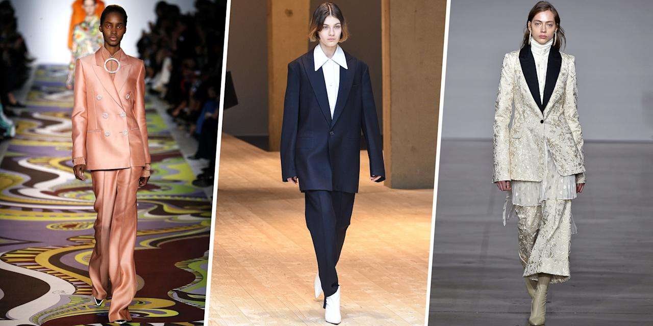 <p>We may all have to start wearing ill-fitting foreign-made blazers (heels and body-con dresses for the girls) soon, so why not make the most out of your remaining sartorial freedom? Here, 25 fresh takes on the pantsuit, a symbol of what could have been and what still could be, if we try hard and stick together. </p>