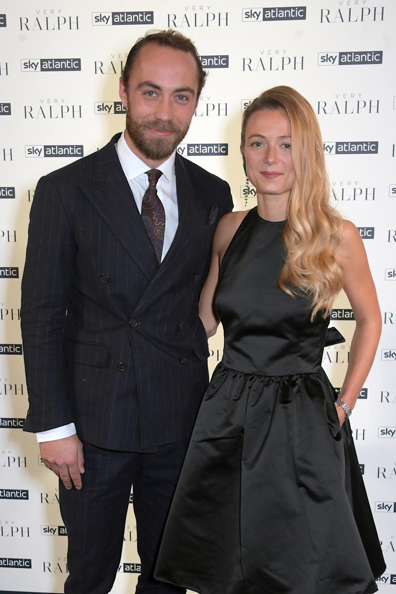LONDON, ENGLAND - NOVEMBER 14: James Middleton and Alizee Thevenet attend the UK Premiere of 'Very Ralph' at Royal Academy of Arts on November 14, 2019 in London, England. (Photo by David M. Benett/Dave Benett/Getty Images for Ralph Lauren Europe SARL)