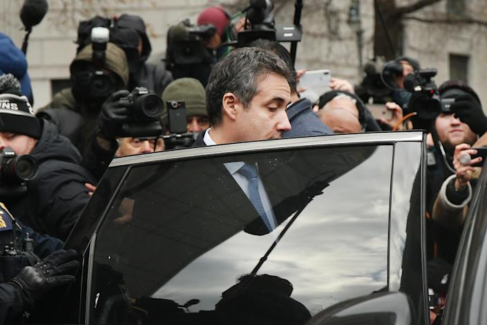 Michael Cohen leaves the federal courthouse in Manhattan on Dec. 12. (Photo: Spencer Platt/Getty Images)