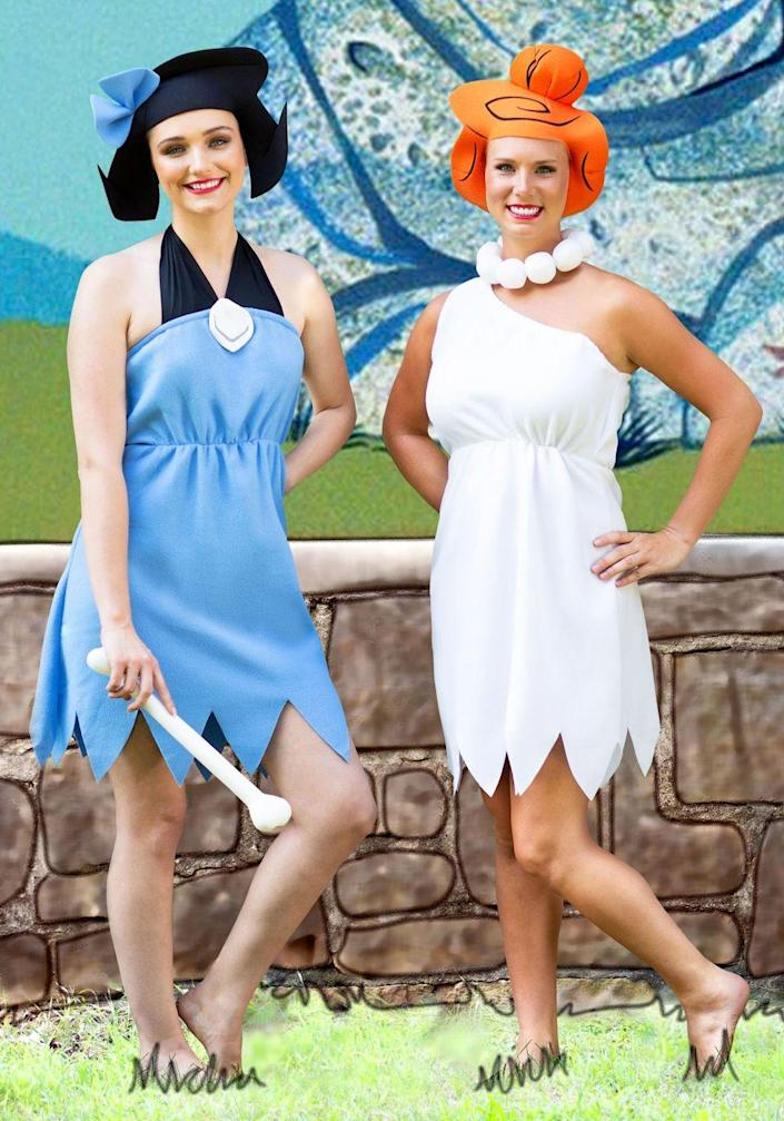 """<p>You'll have a yabba-dabba-doo time this Halloween when you and your daughter dress as Wilma Flintstone and Betty Rubble. This one works well for daughters of all ages!</p><p><a class=""""link rapid-noclick-resp"""" href=""""https://www.amazon.com/Flintstones-Wilma-Flintstone-Costume-Standard/dp/B0018SN5EG/ref=sr_1_1?tag=syn-yahoo-20&ascsubtag=%5Bartid%7C2164.g.37079496%5Bsrc%7Cyahoo-us"""" rel=""""nofollow noopener"""" target=""""_blank"""" data-ylk=""""slk:SHOP WILMA FLINTSTONE COSTUME"""">SHOP WILMA FLINTSTONE COSTUME</a></p><p><a class=""""link rapid-noclick-resp"""" href=""""https://www.amazon.com/The-Flintstones-Betty-Rubble-Costume/dp/B000H8KUYG/ref=sr_1_2?tag=syn-yahoo-20&ascsubtag=%5Bartid%7C2164.g.37079496%5Bsrc%7Cyahoo-us"""" rel=""""nofollow noopener"""" target=""""_blank"""" data-ylk=""""slk:SHOP BETTY RUBBLE COSTUME"""">SHOP BETTY RUBBLE COSTUME</a></p>"""