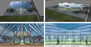 External and Internal Views of the Plans of Cannovation Center Israel
