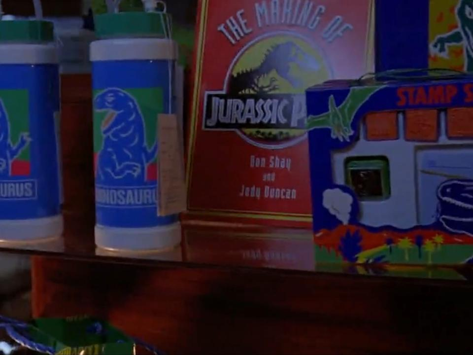 You can actually buy the book that appears in the Jurassic Park gift shop.