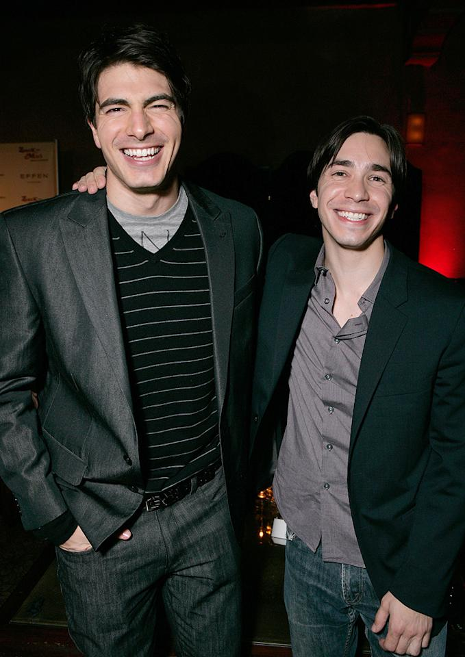 "<a href=""http://movies.yahoo.com/movie/contributor/1808522591"">Brandon Routh</a> and <a href=""http://movies.yahoo.com/movie/contributor/1804512153"">Justin Long</a> at the Los Angeles premiere of <a href=""http://movies.yahoo.com/movie/1809958867/info"">Zack and Miri Make a Porno</a> - 10/20/2008"