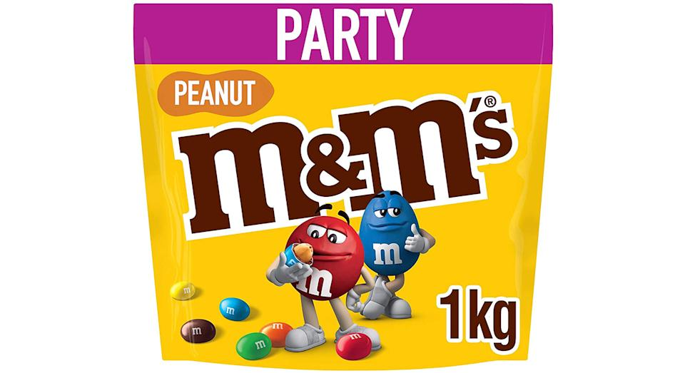 M&M's Peanut Chocolate Party Bulk Bag, 1kg