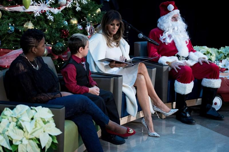 The 47-year-old First Lady was visiting the Children's National Hospital in Washington. Photo: Getty Images