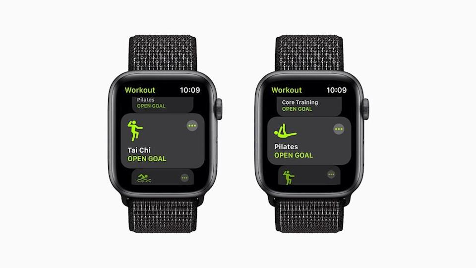 Pilates and tai chi are new Workout options on the Apple Watch. — Picture courtesy of Apple