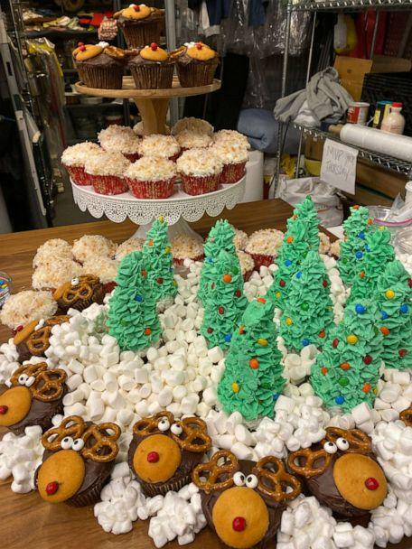 PHOTO: An array of sweet treats made by Daneshia Lynch of DrunkN Shots for 'Good Morning America's' Christmas Day 2019 episode. (ABC News)
