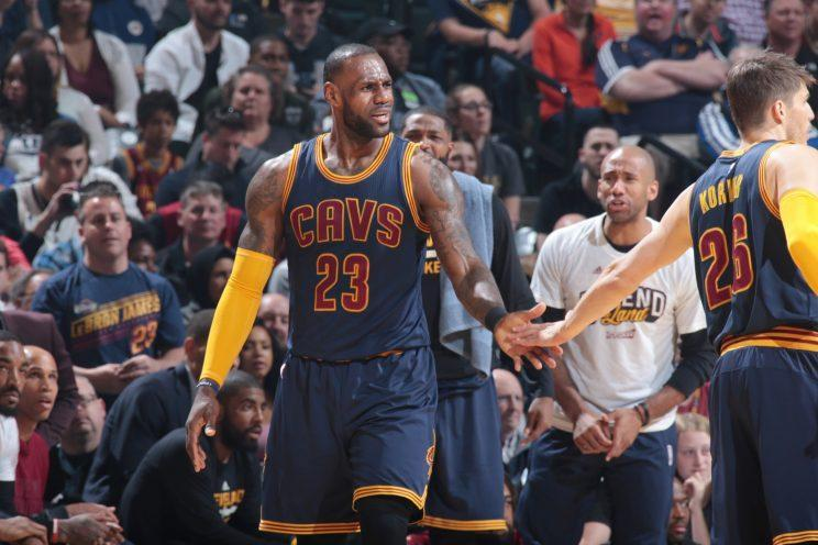 LeBron James and the Cleveland Cavaliers secured yet another first-round sweep. (Getty)