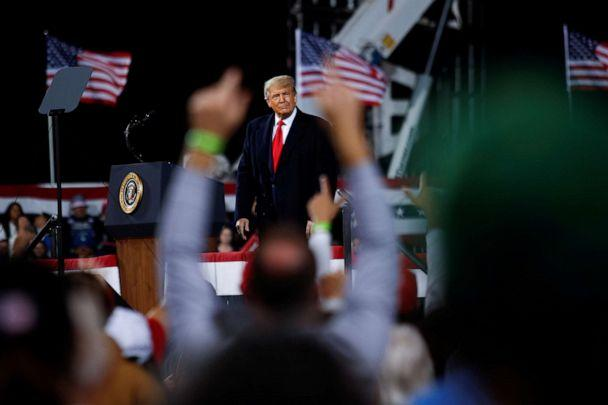 PHOTO: President Donald Trump attends a campaign event in Fayetteville, N.C., Sept. 19, 2020. (Tom Brenner/Reuters, FILE)