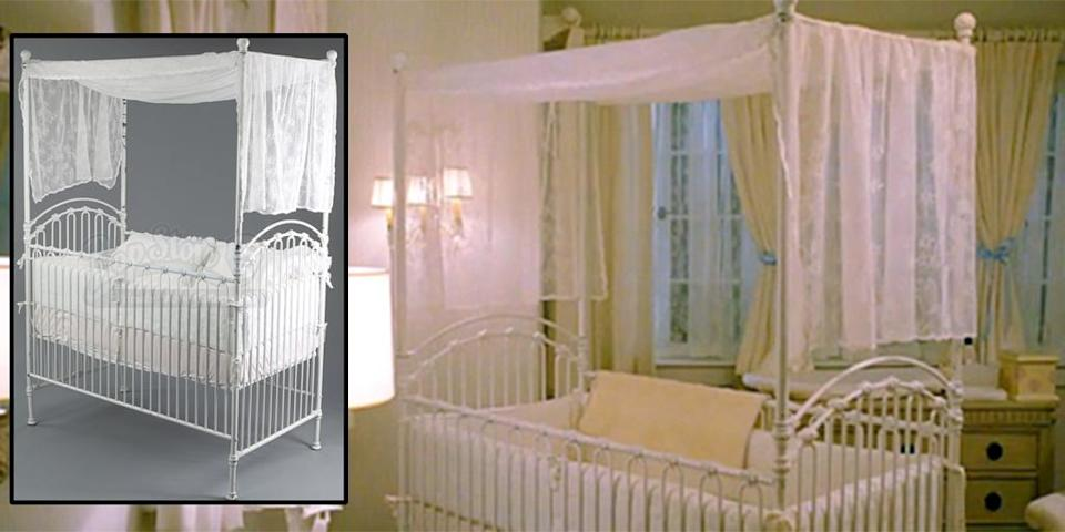 <p>The famous, frilly crib from 'Breaking Dawn – Part 2.' (Photo: Prop Store/Summit) </p>