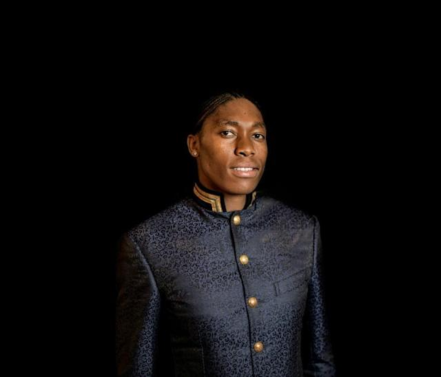 Caster Semenya poses before a function that honoured top South African female achievers (AFP Photo/MARCO LONGARI)