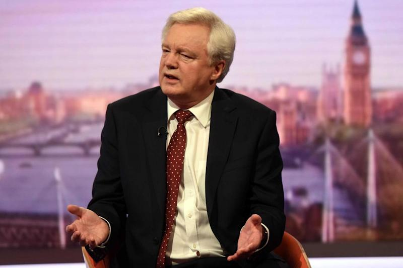 David Davis: the Brexit secretary said he had briefed the Cabinet on contingency plans (PA)