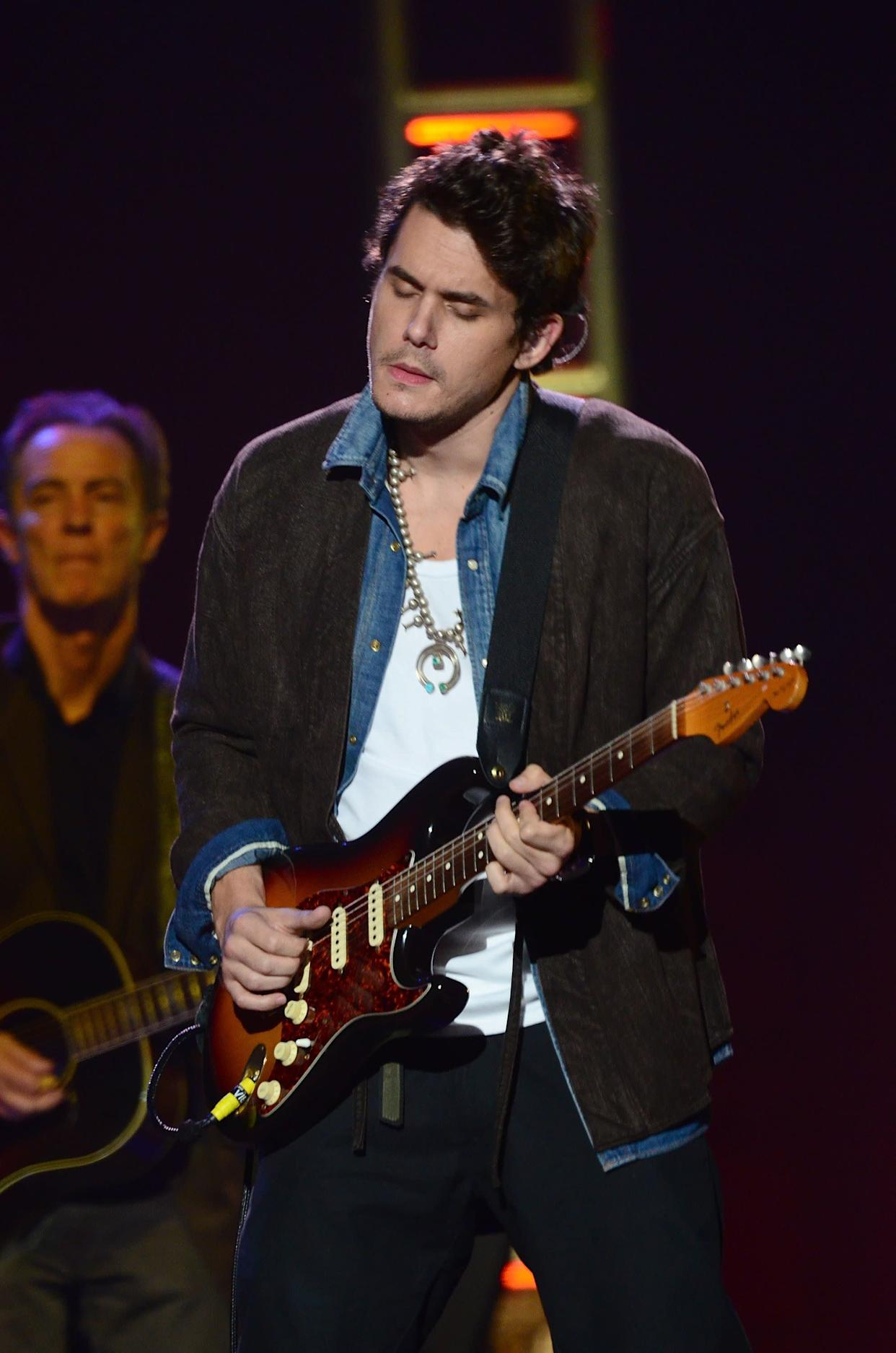 """Remember when Mayer couldn't keep his mouth shut about his sex life with ex-girlfriend, Jessica Simpson? """"Sexually it was crazy. That's all I'll say,"""" <a href=""""http://www.usmagazine.com/celebrity-news/news/john-mayer-jessica-simpson-was-crazy-2010102"""" rel=""""nofollow noopener"""" target=""""_blank"""" data-ylk=""""slk:he told Playboy in 2010"""" class=""""link rapid-noclick-resp"""">he told Playboy in 2010</a>, """"It was like napalm, sexual napalm. Did you ever say, 'I want to quit my life and just f**king snort you? If you charged me $10,000 to f**k you, I would start selling all my s**t just to keep f**king you?'"""""""