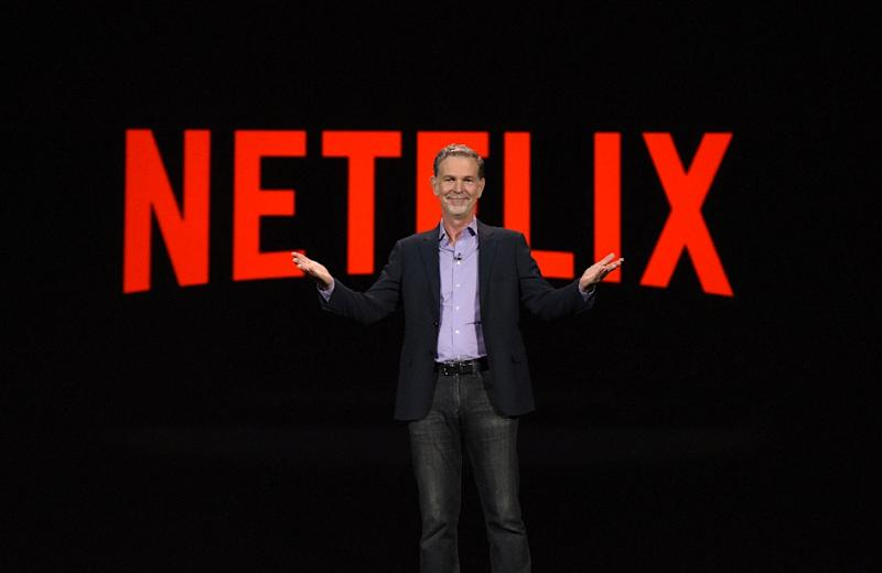 Netflix CEO Reed Hastings is seen in a 2016 photo (AFP Photo/ROBYN BECK)
