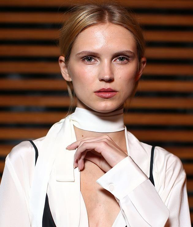 Backstage at the Daniel Avakian show. Photo: Getty Images.