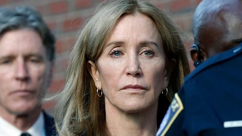 Felicity Huffman begins community service after prison release