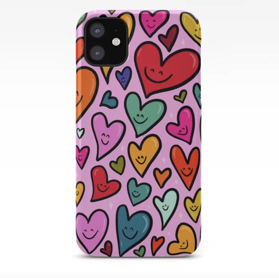<p>You can use this <span>Doodle by Meg Smiling Heart Print iPhone Case</span> ($27, originally $26) year-round.</p>