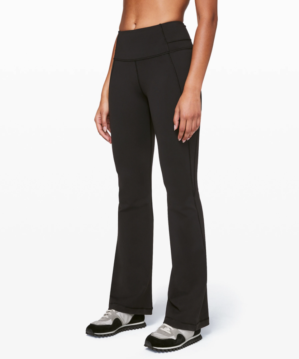 "Groove Pant Flare 32"" Full-On Luon. Image via Lululemon."