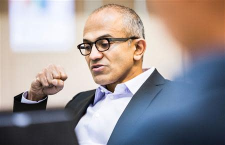 Satya Nadella, executive vice president of Microsoft�s Cloud and Enterprise group, is seen in this undated Microsoft handout photograph released on February 4, 2014. REUTERS/Microsoft/Handout via Reuters