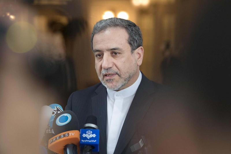 Abbas Araghchi speaks to the media after the meeting of the Joint Commission of the Joint Comprehensive Plan of Action (JCPOA): AFP/Getty Images