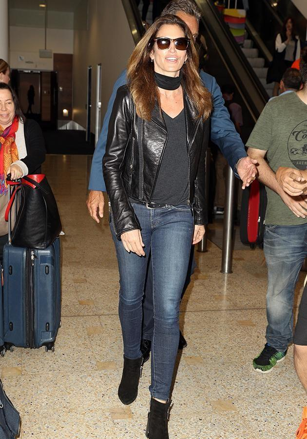 Cindy Crawford has touched down at Sydney International Airport. Photo: Getty
