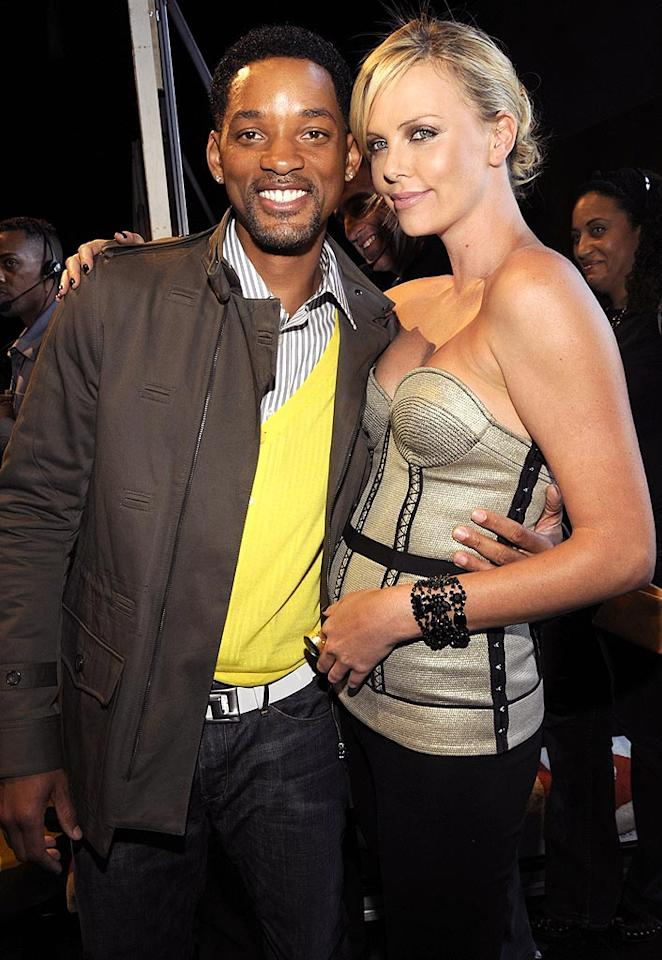 "Will Smith and Charlize Theron were undoubtedly the best dressed and most talented twosome at the star-studded event. Kevin Mazur/<a href=""http://www.wireimage.com"" target=""new"">WireImage.com</a> - June 1, 2008"