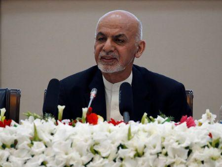 Afghan President Ashraf Ghani speaks during during a peace and security cooperation conference in Kabul Afghanistan
