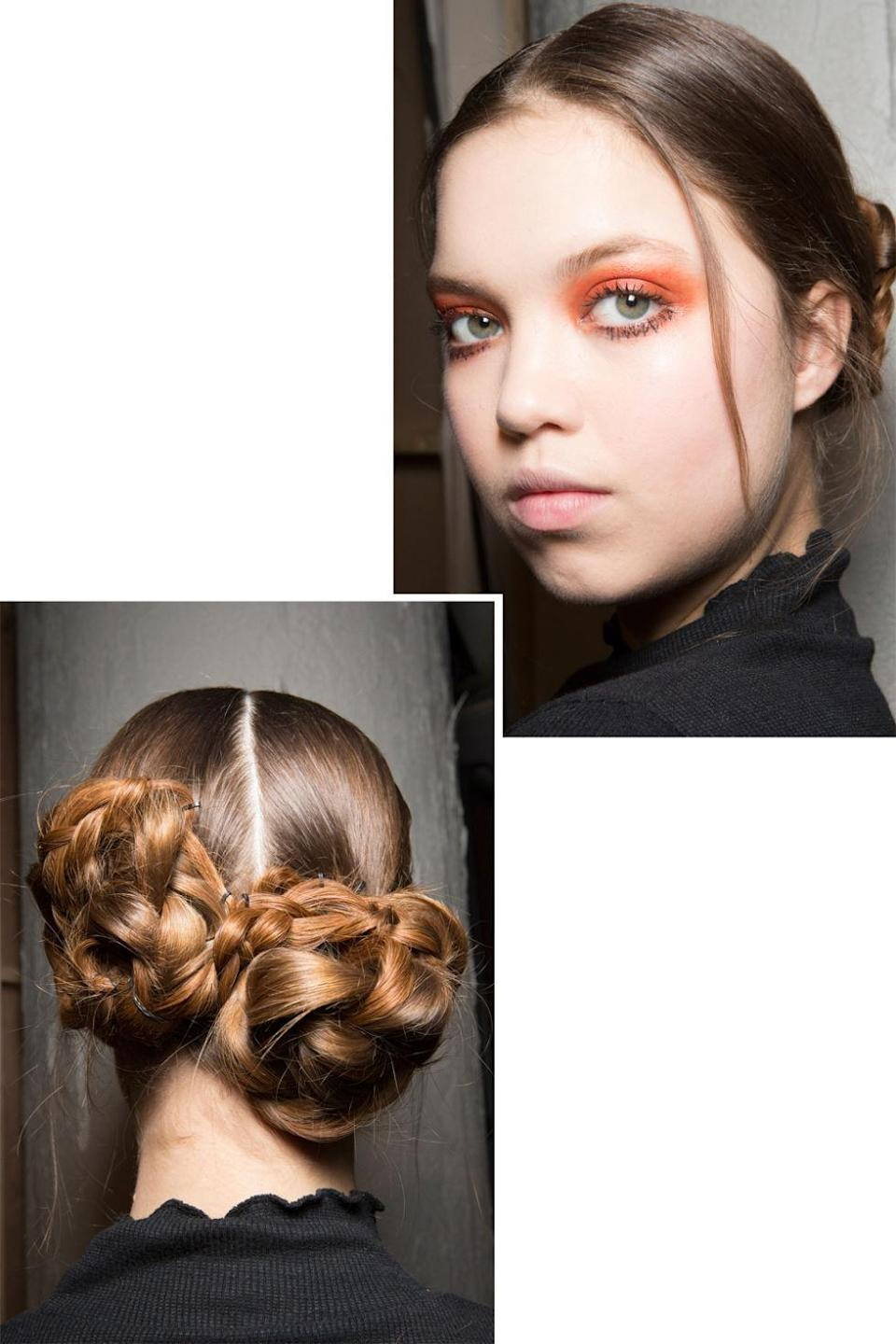 <p>The glossy, warm orange shadow and braided double buns at J JS Lee looked perfect from every angle.</p>