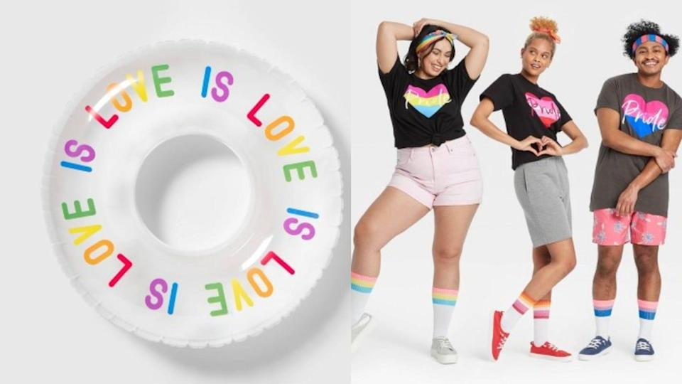 Target's #takepride collection includes apparel, swimwear, pool floats, and other great accessories.