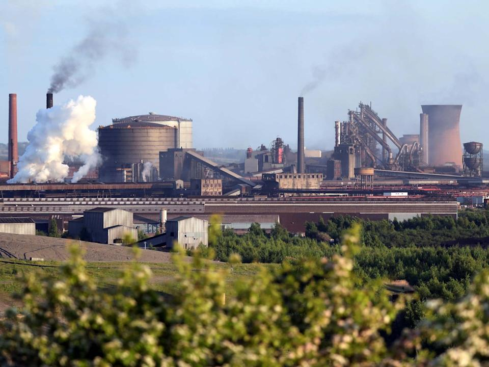 A general view shows the British Steel works in Scunthorpe: Reuters