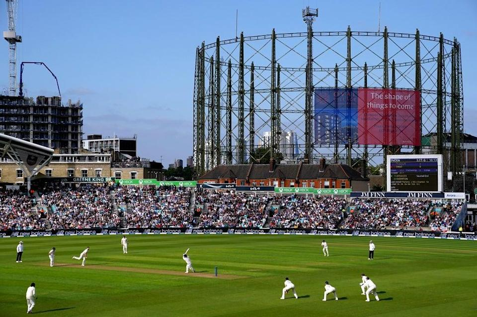 There was a full crowd at the Kia Oval (Adam Davy/PA) (PA Wire)