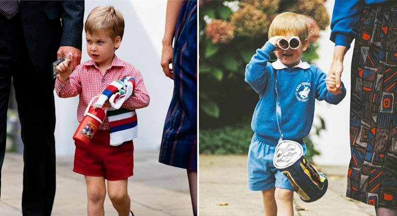David Levenson captured William and Harry on their first days at nursery. (David Levenson/Getty Images)