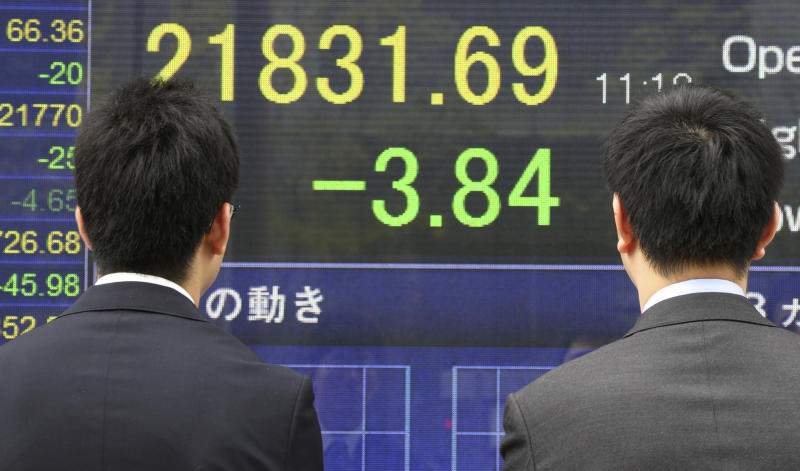 Asian shares flat to slightly higher as geopolitics weigh