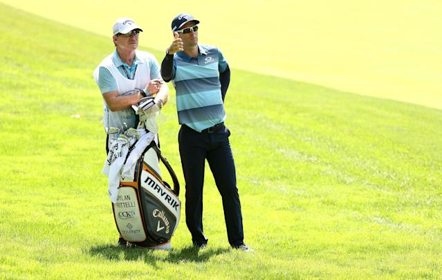 Dylan Frittelli, who tested positive again on Wednesday, was one of three PGA Tour golfers to compete in isolated fashion at Muirfield Village. (Photo by Gregory Shamus/Getty Images)