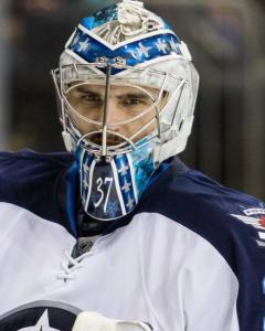 Chris Morgan likes Connor Hellebuyck's chances at a victory in Game 5 at home versus St. Louis on Thursday.
