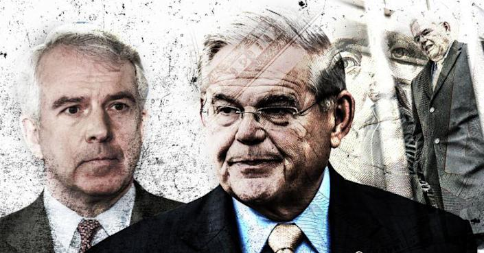 Bob Hugin, the Republican candidate for New Jersey's Senate seat, and Robert Menendez, the Democratic incumbent. (Yahoo News photo illustration; photos: AP, Getty Images)