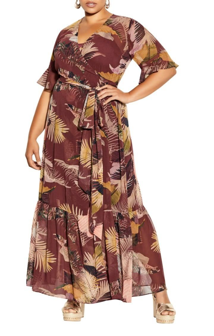 <p>This <span>City Chic Tropical Heat Floral Print Wrap Maxi Dresss</span> ($119) is ready to be packed on your next vacation.</p>