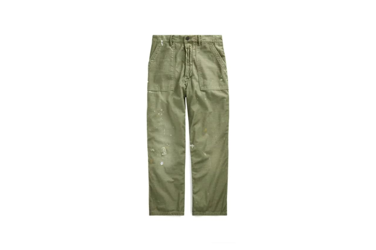 "$228, Ralph Lauren. <a href=""https://www.ralphlauren.com/men-clothing-shop-new-arrivals-cg/relaxed-fit-distressed-pant/503905.html?dwvar503905_colorname=Army%20Olive&cgid=men-clothing-shop-new-arrivals-cg&webcat=Men%2FWhat%20s%20New%2FNew%20Arrivals#sz=30&start=31&cgid=men-clothing-shop-new-arrivals-cg"">Get it now!</a>"