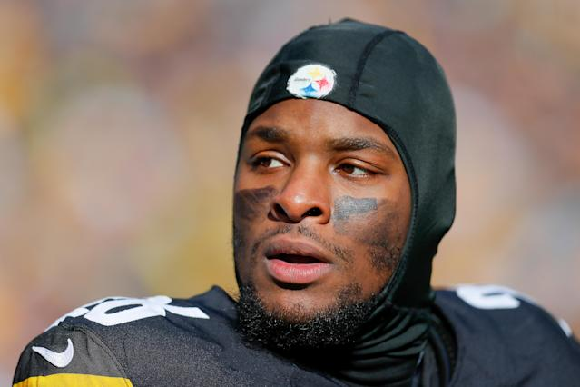 Le'Veon Bell is sitting out the 2018 season, in search of a better long-term payday for 2019 and beyond. (Getty Images)