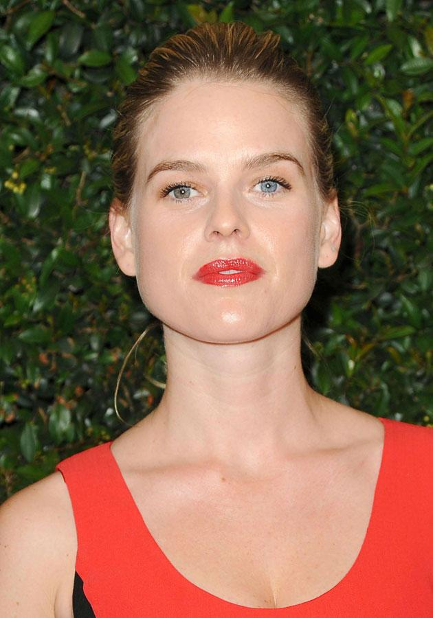 Celebrities wearing red lipstick: Alice Eve wore a tomato-red shade in LA.<br><br>[Rex]