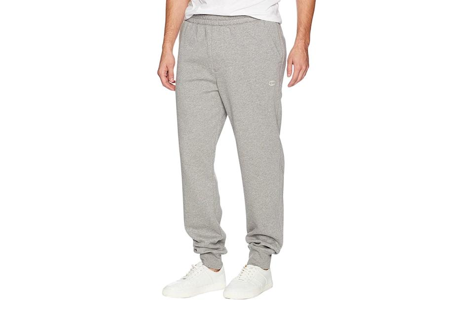 "$34, Amazon. <a href=""https://www.amazon.com/Champion-Authentic-Originals-Sueded-Sweatpant/dp/B06Y14FMY6/ref=cs_sr_dp_3?dchild=1&keywords=champion+sweatpants&qid=1599577595&sr=8-1"" rel=""nofollow noopener"" target=""_blank"" data-ylk=""slk:Get it now!"" class=""link rapid-noclick-resp"">Get it now!</a>"