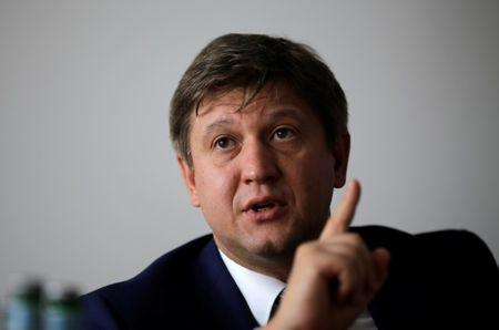 Ukrainian Finance Minister Oleksandr Danylyuk during interview with Reuters in Berlin