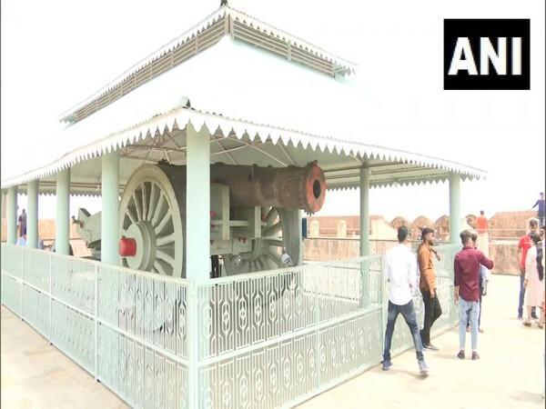 Jaivan Cannon preserved at Jaigarh fort in Jaipur