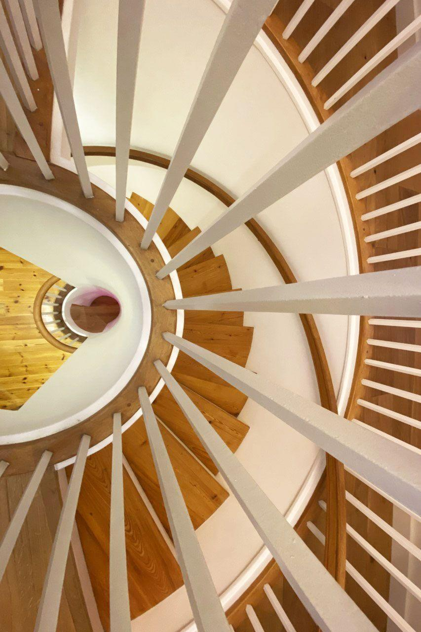 """<p>""""This in an overhead view of our circular stairwell, which runs through the centre of the house across three floors.""""</p>"""