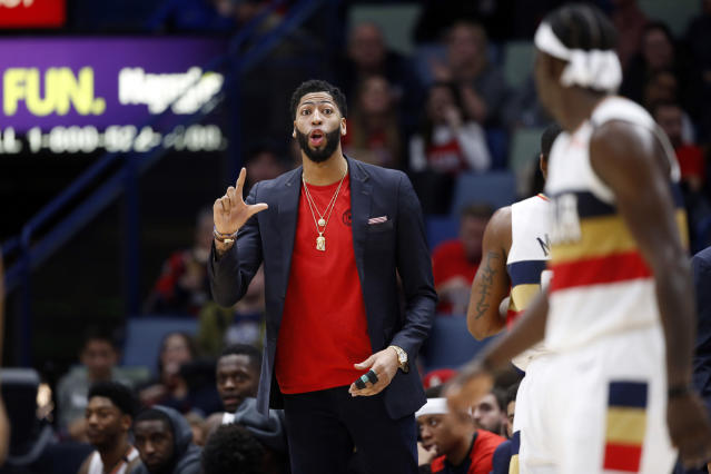 Anthony Davis doesn't view Boston as a long-term solution. (AP Photo)