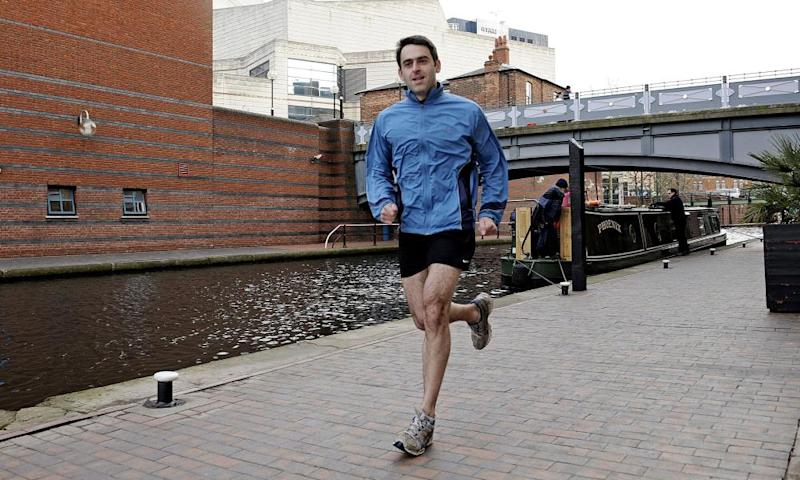 Ronnie O'Sullivan out running in Birmingham.