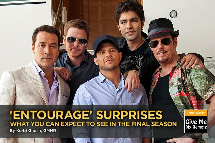 "The final season of ""<a href=""/entourage/show/28361"">Entourage</a>"" debuts this Sunday, July 24, kicking off eight episodes that will tie up the Hollywood saga of movie star Vincent Chase and his childhood homeboys. What surprises can we expect from the series over the next two months? Click through this slideshow to find out. — <a href=""http://www.givememyremote.com/remote/"" rel=""nofollow"">Give Me My Remote</a>"